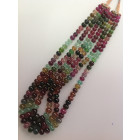 MULTI TOURMELINE PLAIN BEADS