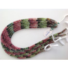 MULTI TOURMALINE FACETTED BEADS