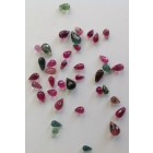 MULTI TOURMALINE FACETTED DROPS