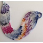 MULTI SAPPHIRE FACETTED BEADS