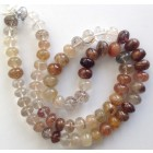 MULTI RUTILE FACETTED BEADS